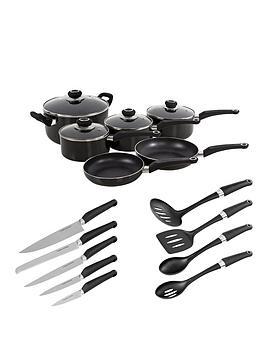 morphy-richards-6-piece-pan-set-with-10-piece-tool-set-black