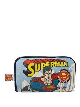 superman-vintage-print-wash-bag