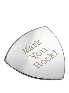 personalised-you-rock-silver-plated-guitar-plectrum