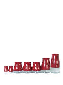 sabichi-7-piece-red-kitchen-canister-set