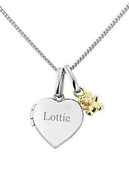 keepsafe-sterling-silver-and-gold-teddy-personalised-childrens-locket