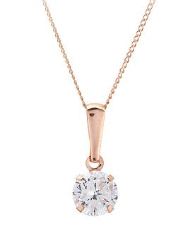 love-gold-9-carat-rose-gold-6mm-cubic-zirconia-solitaire-pendant