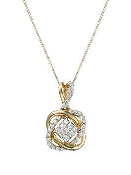 love-diamond-9-carat-yellow-gold-25-point-diamond-infinity-crossover-pendant