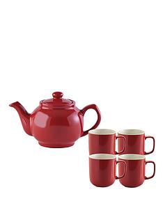 price-kensington-6-cup-teapot-and-4-mugs-red