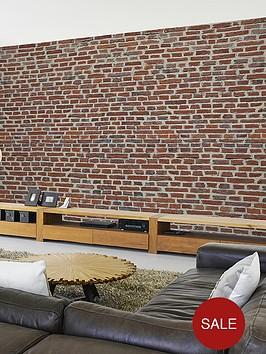 1wall-rustic-red-brick-wall-mural