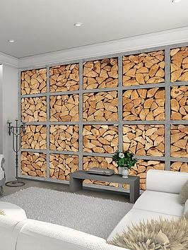 1wall-industrial-look-log-wall-mural