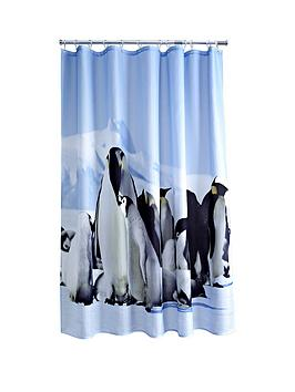 aqualona-penguin-shower-curtain-multi