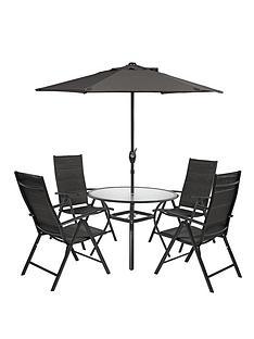seville-6-piece-round-dining-set-black