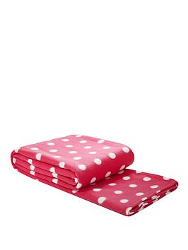 spot-printed-fleece-blanket-pink