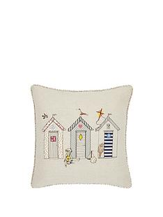 hamilton-mcbride-beach-huts-embroidered-cushion