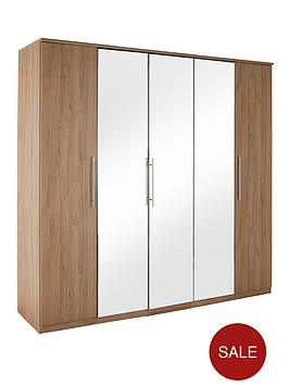 new-prague-5-door-mirrored-wardrobe
