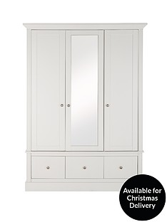 consort-dover-3-door-3-drawer-central-mirror-wardrobe