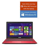 X553MA Intel® Celeron® Processor, 4Gb RAM, 1Tb Hard Drive, Wi-Fi, 15.6 inch Laptop with Optional Microsoft Office 365 Personal - Pink