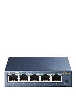 tp-link-desktop-5-port-101001000mbps-switch-with-steel-case-metallic-blue