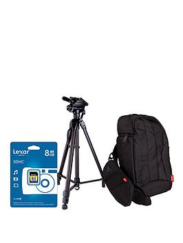 canon-dslr-gadget-bag-and-8gb-memory-card-kit-and-tripod