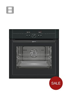 neff-b15p52s3gb-60cm-built-in-single-electric-oven-black