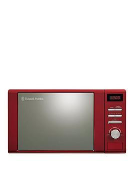 russell-hobbs-rhm2064r-heritage-800-watt-microwave-red