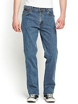 Mens Texas Stretch Straight Jeans - Stonewash
