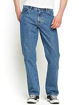 Mens Durable Straight Jeans - Stonewash