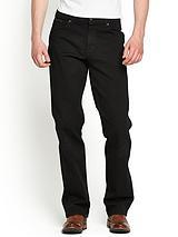 Mens Texas Stretch Straight Jeans - Black
