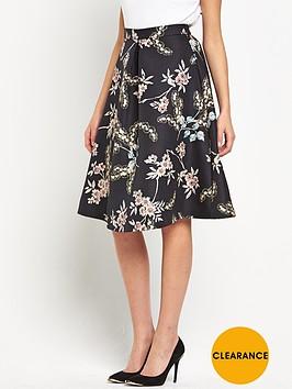 oasis-oriental-jacquard-printed-skirt