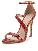 Paris Asymmetric Minimal Sandals - Snakeskin