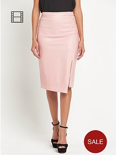 lipsy-pu-asymmetric-textured-pencil-skirt