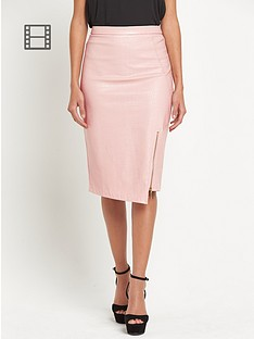 lipsy-pu-asymmetric-textured-pencil-skirt