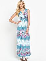 Jersey Print Casual ITY Maxi Dress