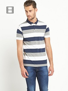 goodsouls-mens-navy-stripe-short-sleeve-jersey-polo-top