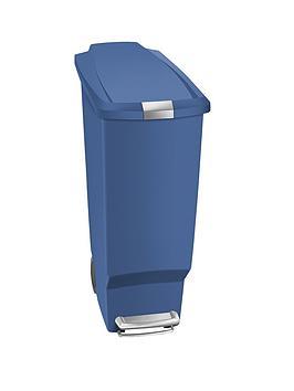 simplehuman-40-litre-slim-plastic-bin-blue