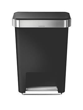 simplehuman-45-litre-rectangular-step-bin-black