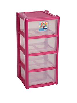 wham-4-drawer-tower-storage-unit-pink