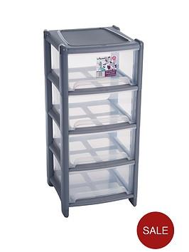 wham-4-drawer-tower-storage-unit-graphite