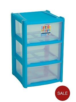 wham-3-drawer-tower-storage-unit-blue