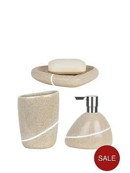spirella-etna-set-of-3-bathroom-accessories-sand