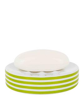spirella-tubes-stripes-soap-dish-kiwi