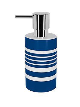 spirella-tubes-stripes-soap-dispenser-blue