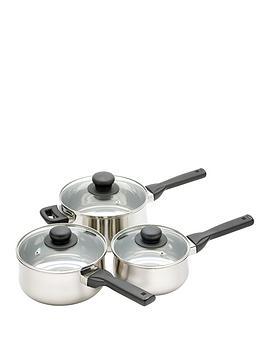 kitchen-craft-3-piece-saucepan-set-stainless-steel