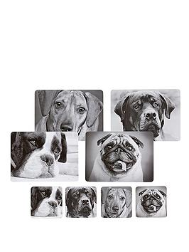kitchen-craft-8-piece-dog-placemats-and-coaster-set