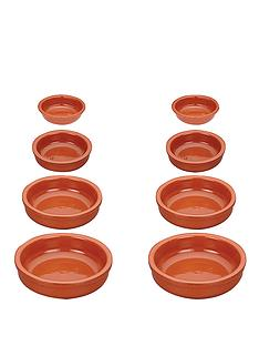 world-of-flavours-mediterranean-traditional-terracotta-round-dishes-set-of-8
