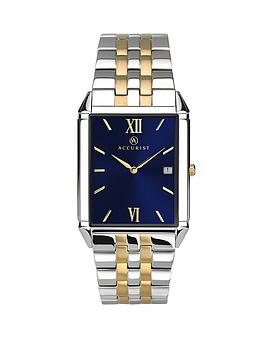 accurist-sunray-blue-dial-stainless-steel-two-tone-bracelet-mens-watch