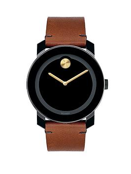 movado-bold-black-dial-with-gold-highlights-cognac-rustic-leather-strap-mens-watch