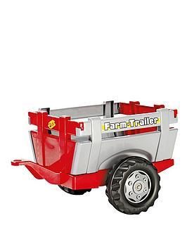 rolly-toys-farm-trailer-redsilver