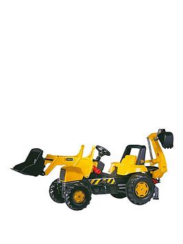rolly-toys-rolly-junior-jcb-tractor-with-frontloader-and-rear-excavator