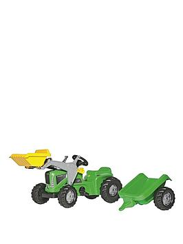 rolly-toys-rolly-kiddy-futura-tractor-with-rolly-kid-trailer-and-frontloader