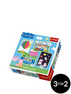 trefl-4-in-1-puzzle-peppa-pig