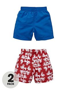 ladybird-toddler-boys-skull-print-and-magic-shark-print-board-shorts-2-pack