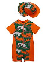 Toddler Boys Moustache Camo Sunsafe and Hat
