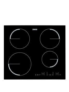 zanussi-zel6640fba-60cm-built-in-electric-hob-black